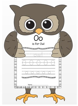 """Owl and Letter """"O"""" Crafts"""