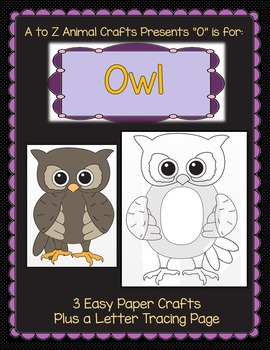 "Owl and Letter ""O"" Crafts"