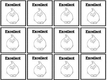Owl and Monster Behavior Chart