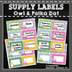 Owl and Polka Dot Supply Labels
