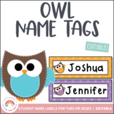 Owl Student Name Labels