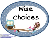 """Owl and Polka-Dot Themed """"Easy Fit"""" Ovals Rules Poster Set"""
