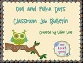 Owl and Polka Dots Job Bulletin Board Set