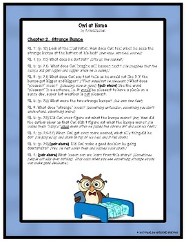 Owl at Home: Text-Dependent Questions and More!