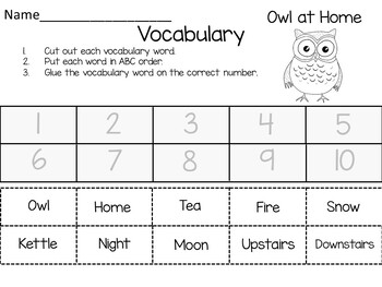 Owl at Home ~ 51 pages of Common Core Activities
