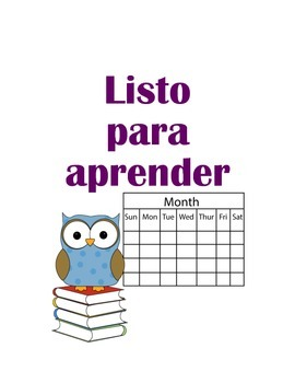 Owl behavior chart (spanish)