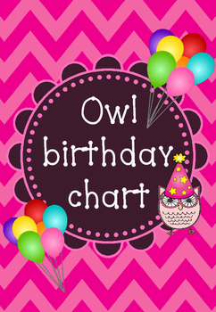 Owl birthday chart