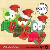 Owl christmas clipart