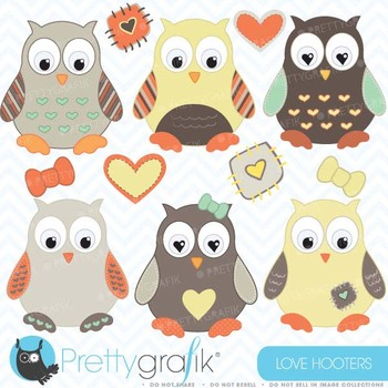 Owl clipart commercial use, vector graphics, digital clip art - CL407