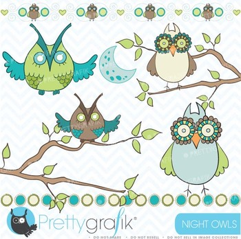 Owl clipart commercial use, vector graphics, digital clip art - CL438
