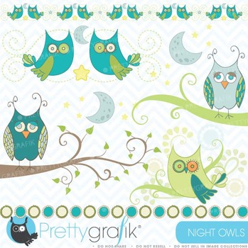 Owl clipart commercial use, vector graphics, digital clip art - CL439