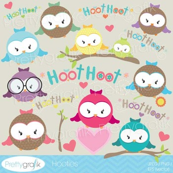 Owl clipart commercial use, vector graphics, digital clip art - CL531