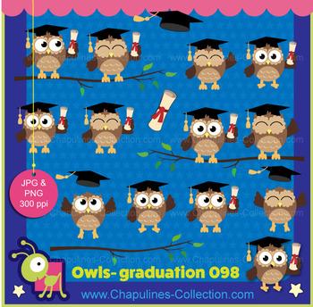 Owl clipart, graduation, happy owls, school, graduation clip art set 098
