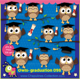 Owl clipart, graduation, happy owls, school, graduation cl