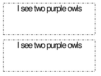 Owl colors and numbers emergent reader