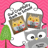 Owl craftivity back to school