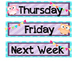 Owl days of the week Sterilite drawer labels