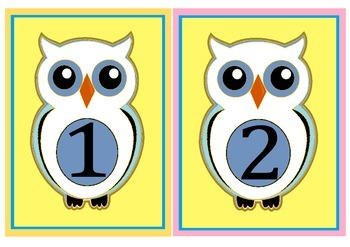 Owl flashcards to 100