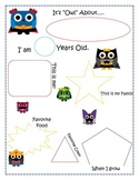 Owl getting to know you poster