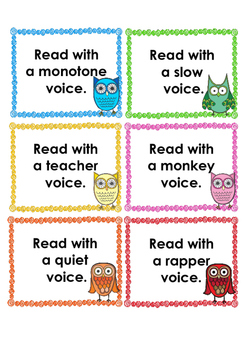 Owl help with fluency voice cards