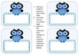 Owl labels - classroom display
