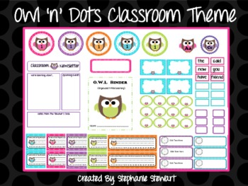 Owl 'n' Dots Classroom Theme