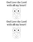 Owl name tag color sheet
