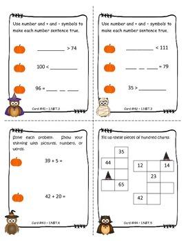 Owl-o-ween 1st Grade Math Task Cards