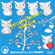 Clipart, Digital Stamps, Owl digital outlines, black line,