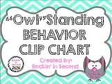 "Owl Themed ""Owl"" standing Behavior Clip Chart & Certificates"