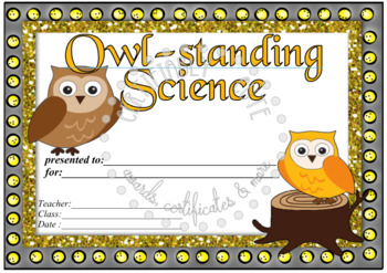 Owl-standing Science!