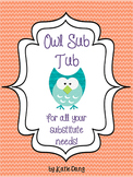 Owl sub tub, substitute binder editable {46 pages!}