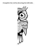 Owl symmetry drawing