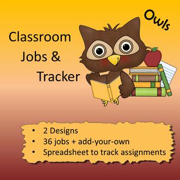 Owl theme - Classroom Jobs