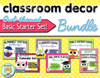Owl-theme Classroom Decor Bundle