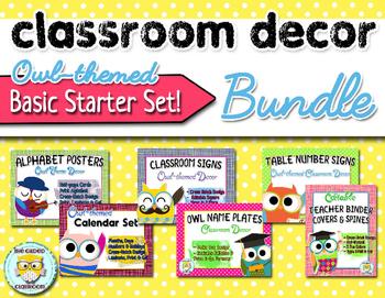 Owl-theme Classroom Decor Bundle