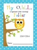 EDITABLE -Owl themed Folder Covers