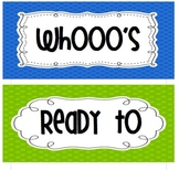 Owl theme Whooo's Ready to Learn Words for you bulletin board