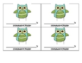 Owl theme homework folder labels