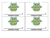 Owl theme homework folder labels