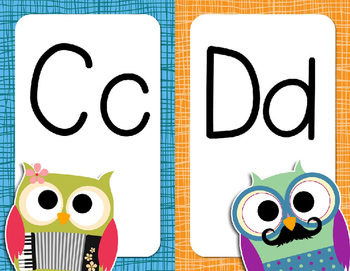 Owl-themed Alphabet Posters