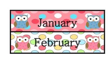 Owl themed Birthday Chart