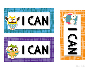Owl-themed I Can Posters