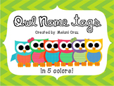 Owl Desk Name Tags