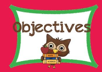 Owl-themed Objectives Templates