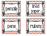 Owl themed Printable Basket Labels Classroom Organizer Set. Class Acce