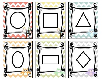 Owl themed Printable Classroom Accessories and Decor Bulletin Board Set.