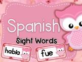 #flamingofriday Owl themed Spanish Sight Words