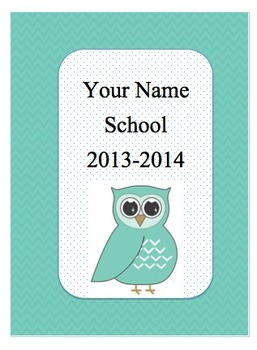 Editable Owl-themed Teacher Binder