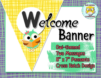 Classroom Welcome Banner, Owl theme
